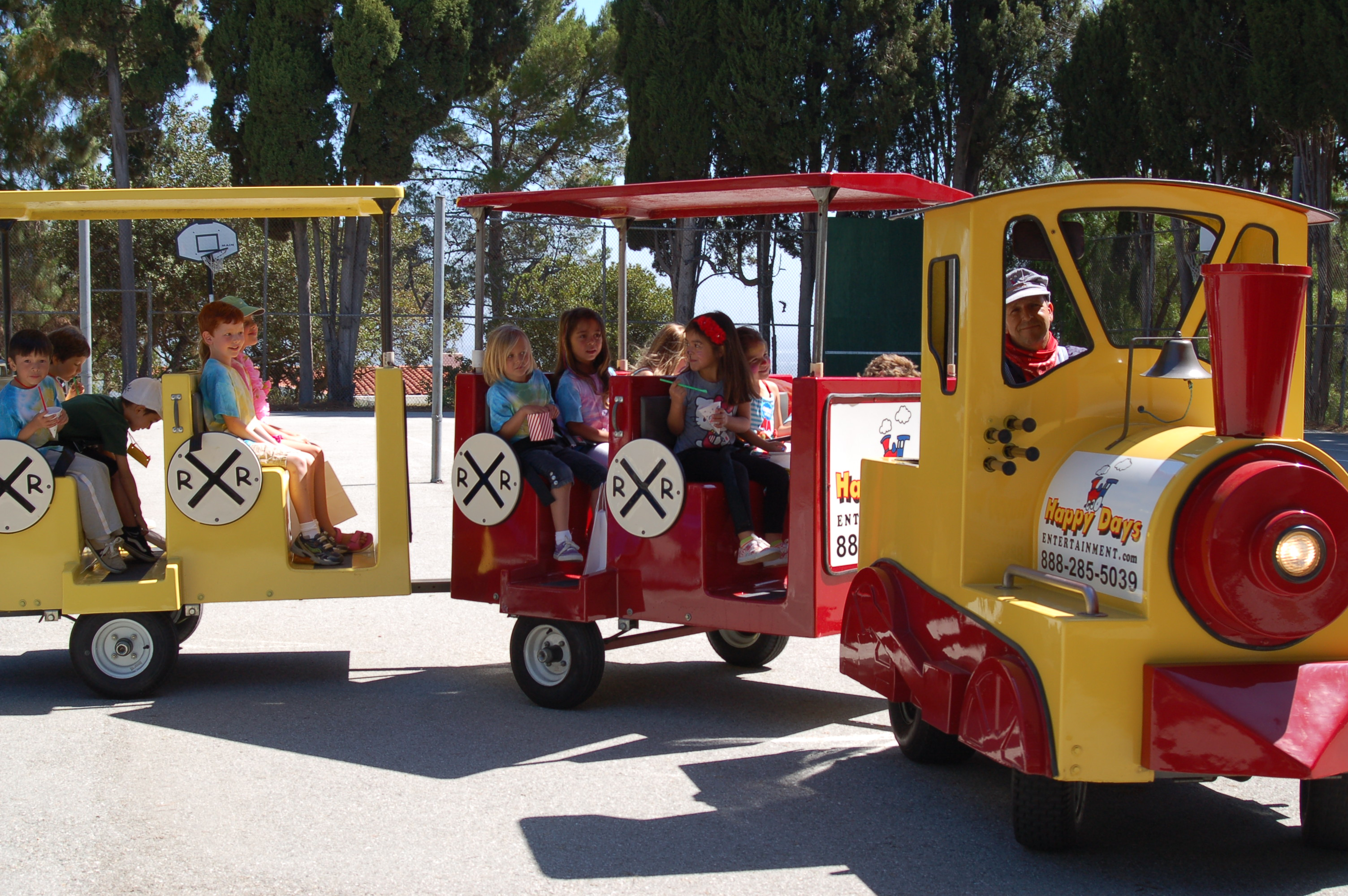 Trackless Trains Kids Birthday Party Characters And