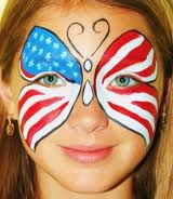 face painting forth of july