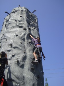 mobile rock climbing sports party