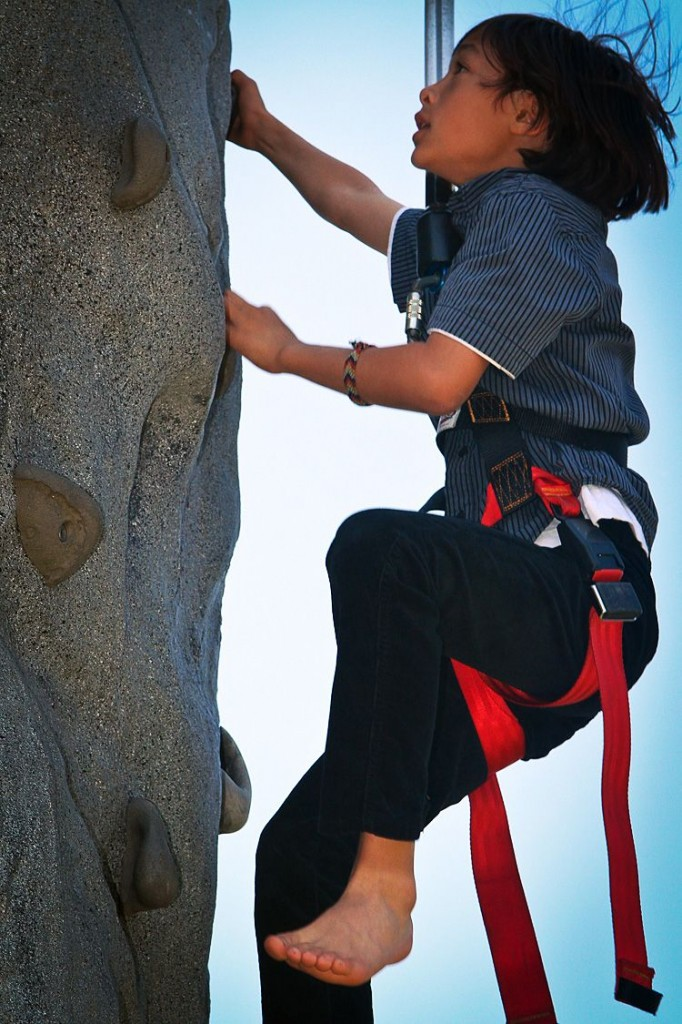 mobile rock climbing kids parties