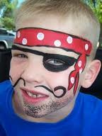 face painting pirate