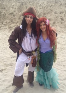 pirate and mermaid ariel jack sparrow