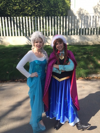 a frozen Princess Elsa & Anna